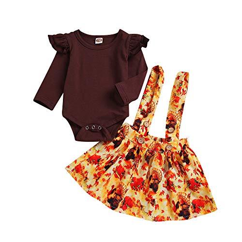 sunnymi 0-24 Monate Baby Mädchen Röcke Strampler Tops + Tutu Türkei Weihnachten Outfit Set (Outfits Die Türkei)