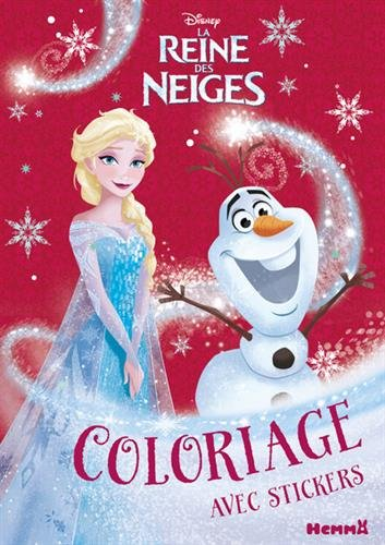 Disney La Reine des Neiges - Coloriage avec stickers (Noël)