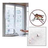 Sungpunet - Zanzariera autoadesiva per insetti/zanzare, per porte/finestre, grande, bianco