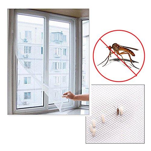 Sungpunet Selbstklebendes Fliegengitter, weiß, für große Fenster, aus Netz-Gewebe, gegen Insekten, Fliegen, Mücken, Moskitos, Motten
