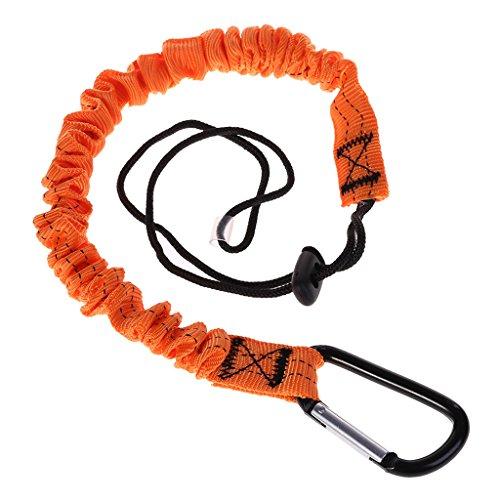 JERKKY Mosquetón Cordón Cuerda Retráctil Telescópica Elástica Hebilla Escalada Amortiguador Equipo De Cuerda De Seguridad