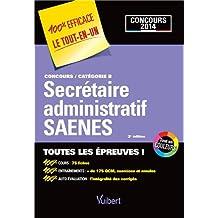 Concours Secrétaire administratif et SAENES - Toutes les épreuves - Catégorie B - Concours 2014