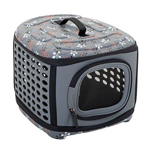 Wangado - Borsa tracolla da trasporto ripiegabile in materiale extra morbido, per il trasporto di gatti e cani di piccola taglia, fino a 6 kg. dimensione L 46 x P 30 x H 32 cm