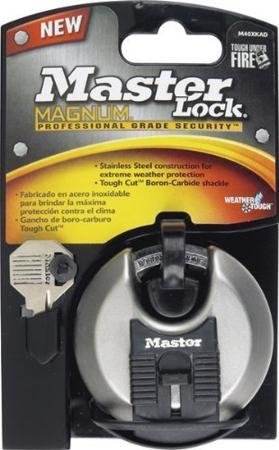 Master Lock Magnum Disc Lock Covered Steel Uses M1 Key Blank Uses M1 Key Blank by Master Lock Company (English Manual)