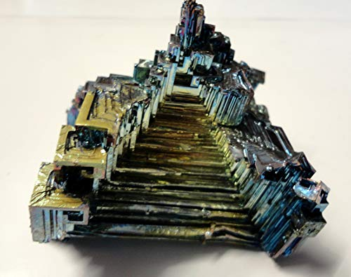 RAINBOW PINK YELLOW BLUE GREEN BISMUTH CRYSTAL ' A' GRADE 220g GERMANY fj120