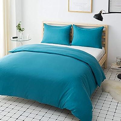 Mohap Duvet Cover Set 3 PCS Breathable Duvet Cover with Pillowcases