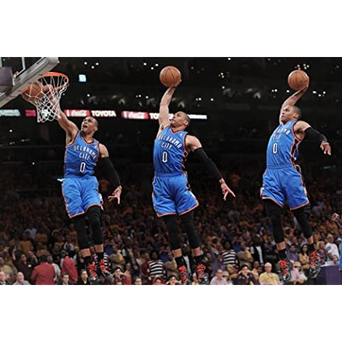 Russell Westbrook Oklahoma City Thunder Baloncesto Póster 24 x 36 # 2