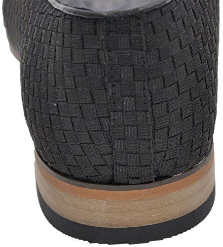 Galax 3032s, Mocassins Homme - Chaussures à Pompons - Doublure Cuir noir 3032s