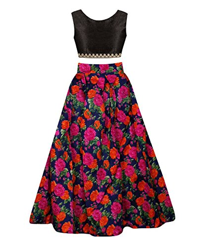 SKY WORLD Girl\'s Digital Printed Semi-stitched Lehenga (8-12 Yrs) (SW_584)