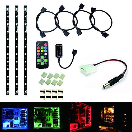 RoLightic - Tira de luces led decorativas 12V 5050, RGB, 4tiras de...