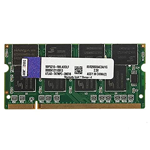 Tutoy 1GB DDR-266 PC2100 Non-ECC SODIMM Memory RAM KIT 200-Pin for Laptop