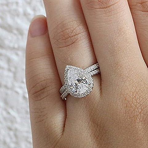 Forever Diamond 14K White Gold Or blanc 14 carats Poire d Diamant