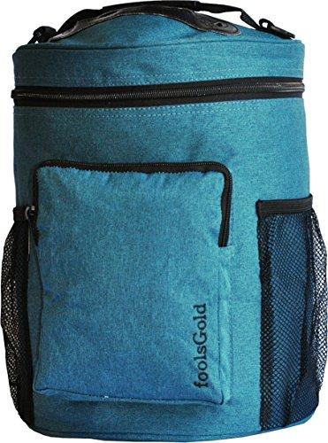 FoolsGold Pro leicht tragen Dual Slot stricken tasche für Wolle und Garne mit 2 Veranstalter Abschnitte und Reißverschluss Tasche - Teal
