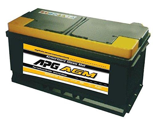 APG XAG105 - Batteria auto con tecnologia AGM e recupero di energia in frenata, 60Ah