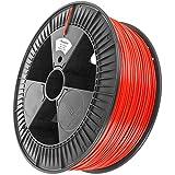 Minadax 2,3kg Premium Qualitaet 1,75mm PLA-Filament rot fuer 3D-Drucker hergestellt in Europa