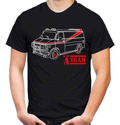 A-Team Männer und Herren T-Shirt | Spruch Hannibal B. A. Geschenk M2 (XXXXL, Schwarz)