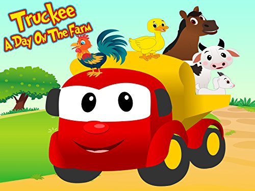 Truckee The Big Red Truck - A Day On The Farm (Dump Truck Red)