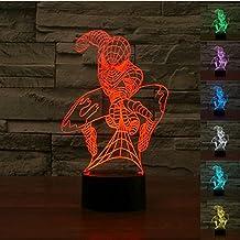 Spider-Man Lámpara Led 3D