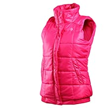 Adidas - Chaleco acolchado para mujer negro rosa Talla:S