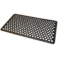 JVL Outdoor Honeycomb Rubber Ring Entrance Floor Door Mat, Plastic, Black, 40 x 60 cm