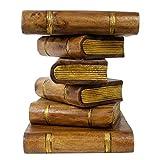 Oriental Galerie Bücher-Hocker Buch Stapel Hocker Bücherhocker Beistelltisch Nachttisch Blumenhocker Podest 40cm Braun Gold Inkl Südostasien Bildband als PDF Datei