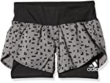 adidas Mädchen Run Shorts, Grey Four/Black, 164