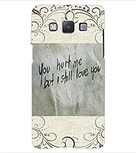 ColourCraft Quote Design Back Case Cover for SAMSUNG GALAXY E5