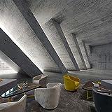 Wandgemälde Benutzerdefinierte Fototapete Retro Industrie Wind Zement Asche Erweiterung Raum Wandbild Wohnzimmer Tv Hintergrund Dekoration 3D Tapete,60Cm(H)×120Cm(W)