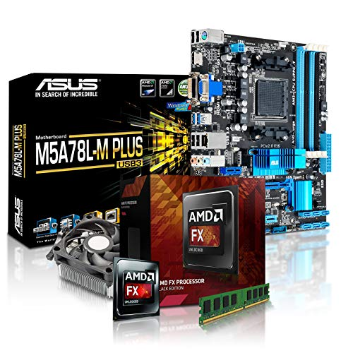 PC Aufrüstkit AMD, FX-4300 4x3.8 GHz, 8GB DDR3, Radeon HD3000-1GB, Mainboard Bundle, Tuning Kit, fertig montiert, Spiele Office 8 Gb Bundle Kit