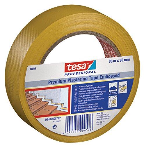 tesa Putzband 4840 Premium, quergerillt, 30 mm x 33 m, gelb