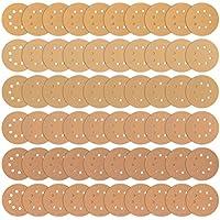 iTrunk 60 Piezas 8 Hoyos Disco De Lijado Dorado 5 Pulgadas De Gancho Sin Polvo Y Papel De Lija – 10 Cada Uno De 60 80 120 180 240 320.