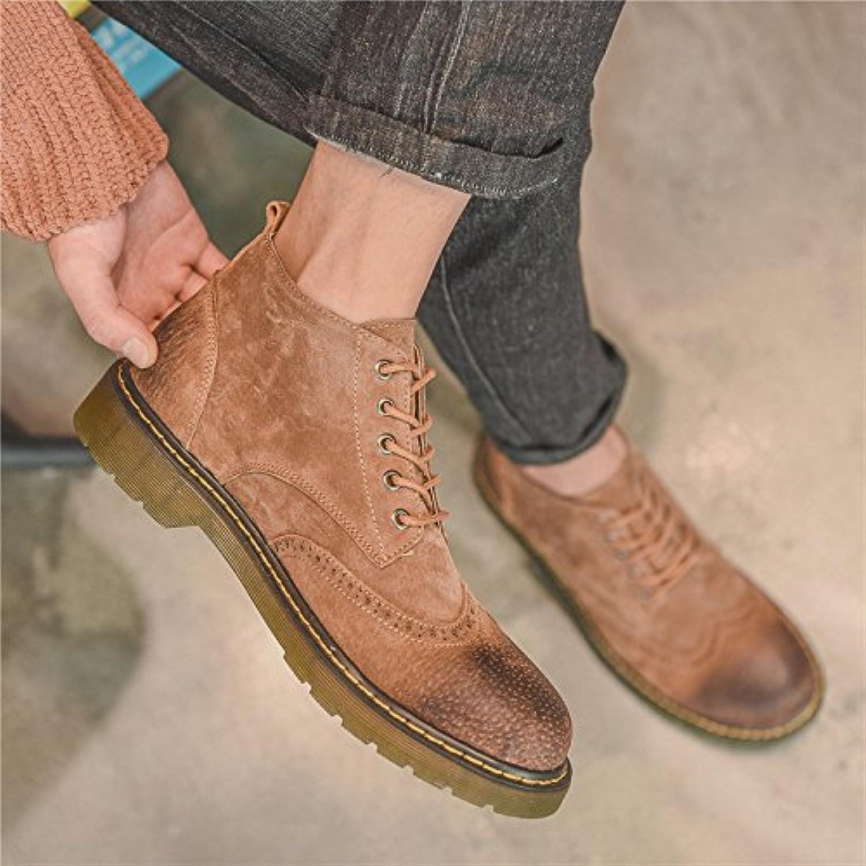 HL-PYL-nuevas botas cortas, Coreano zapatos, zapatos, botas, botas y Martin botas,39,Marrón oscuro
