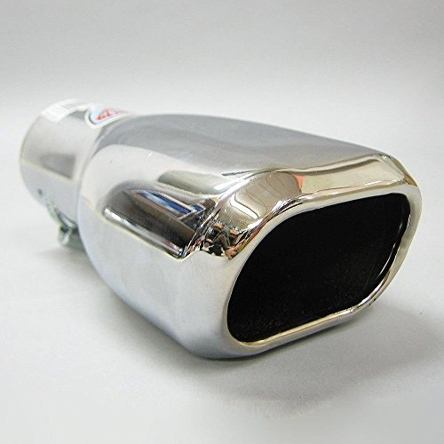 Chrome Universel 70mm droite d/'échappement tuyau d'échappement trim
