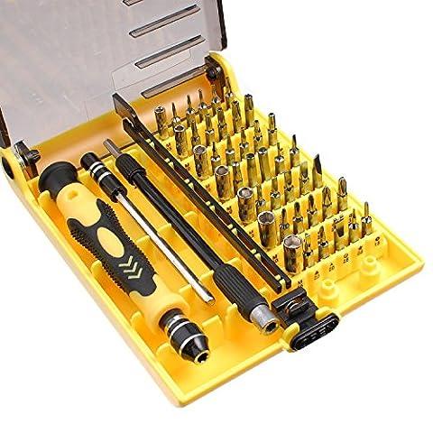 Jackly JK-6089C 45 à 1 interchangeables Tournevis Tools précises pour l'électronique
