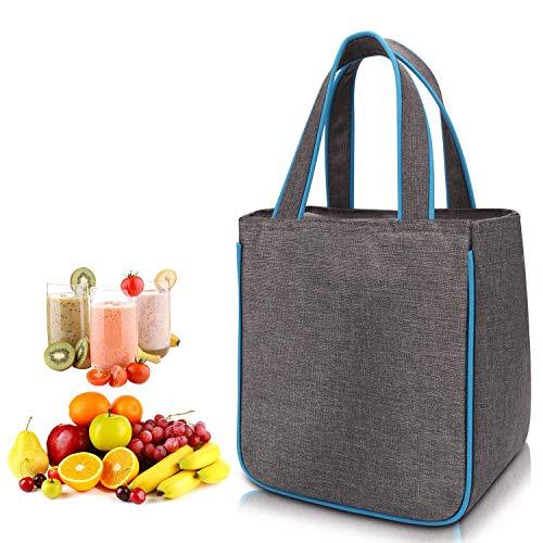 WAWJ Lunch Tasche Isoliert für Männer, Kühltasche Kinder Oxford Picknick Organizer Tote Bag Kühltasche Isoliertasche Picknicktasche (Blau)