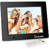 OXA 8 Pouces HD Cadre Photo Numérique avec 16 Go de Mémoire, Détection de Mouvements, Lecteur MP3 et Vidéo (Noir)