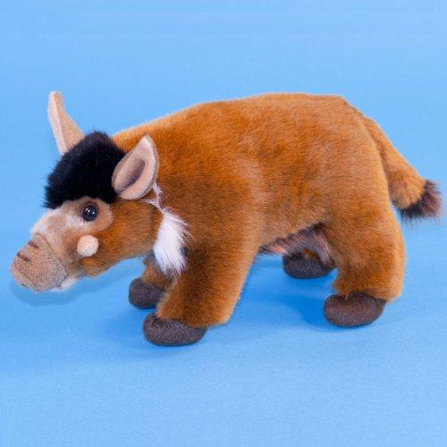 24cm-red-river-hog-soft-cuddly-toy-animal-by-dowman