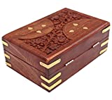 Wood Art Store Handmade Wooden Jewellery Box For Women Jewel Organizer Hand Carved Carvings Gift Items