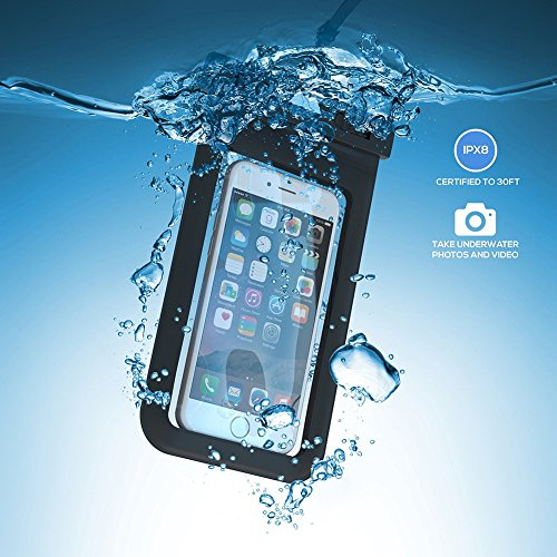 amovo Sac Étui universel étanche pour iPhone 6, 6Plus, Samsung Galaxy S6, S6Edge, S5,,/Note 4/3, HTC One M9, M8, M7, max, LG G4G3G2, Nexus 6, 5, 4, Sony Xperia Z3, Z2, Z1, Nokia Lumia, Blackberry, bleu