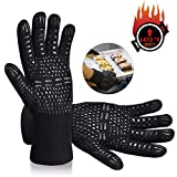 Karrong Grilling Gloves Heat Resistant Oven Gloves, BBQ Gloves Heat Resistant Up to