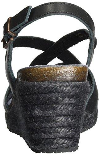 Fred de la Bretoniere Damen Sandale Offene Schwarz (Black)