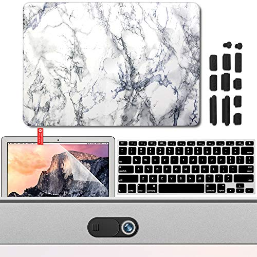 GMYLE 13NMBA13MBA13NMBP5I1#VAR1 weiß 5 in 1 White Marble Logo Light Cutout Protection Kit MacBook Air 13