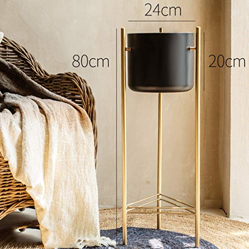 SYXYSM Schmiedeeisenblumenstandbalkon-Wohnzimmerinnenraum, Der Einfache Inneneinrichtung Steht (Color : Black, Size : 80cm×24cm) (Pflanze Steht Indoor Weiß)