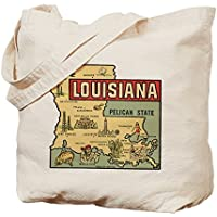 Cafepress–Louisiana la–Borsa di tela naturale, tessuto in