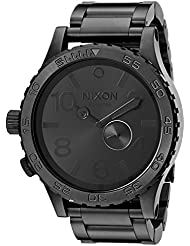 Nixon Herren-Armbanduhr 51-30 Tide All Black Analog Quarz Edelstahl A057001-00