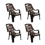 Cello Comfort Sit Set of 4 Chairs (Ice Brown)
