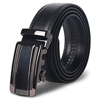 Men's Ratchet Belt - M.R Adjustble Leather Automatic Dress Belts For Men 110CM