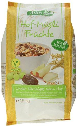 Allos Hof-Müsli Früchte Großgebinde, 1er Pack (1 x 1.5 kg)