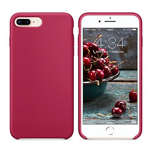 Surphy cover iphone 8 plus, cover iphone 7 plus, custodia iphone 8 plus 7 plus silicone cover antiurto con morbida microfibra fodera, protettiva cover case per apple iphone 8/7 plus 5.5 (porpora)