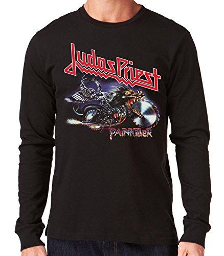 35mm - Camiseta Hombre Manga Larga - Judas Priest - Painkiller - Long Sleeve Man Shirt, NEGRA, L